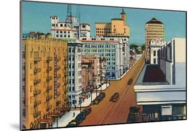 'Broadway. San Diego, California', c1941-Unknown-Mounted Giclee Print