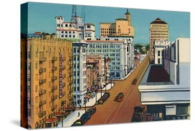 'Broadway. San Diego, California', c1941-Unknown-Stretched Canvas Print