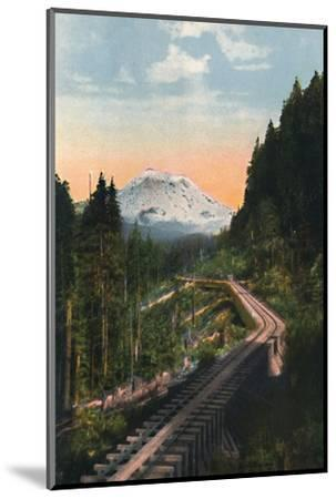 'Mount Rainier from the C. M. & P. S. R. R.', c1916-Asahel Curtis-Mounted Photographic Print