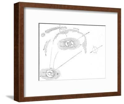 'Plan of the Battle of Abu Kru, (January 19, 1885)', c1885-Unknown-Framed Giclee Print