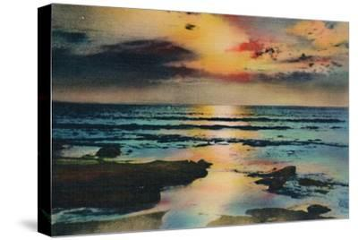 'Sunset on the Pacific. La Jolla, California', c1941-Unknown-Stretched Canvas Print