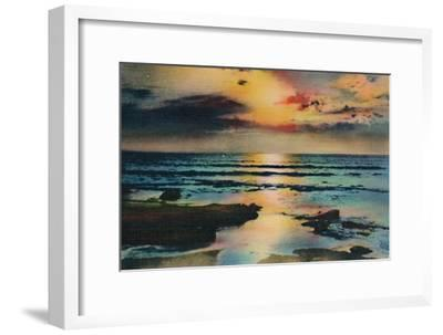 'Sunset on the Pacific. La Jolla, California', c1941-Unknown-Framed Giclee Print