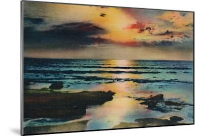 'Sunset on the Pacific. La Jolla, California', c1941-Unknown-Mounted Giclee Print