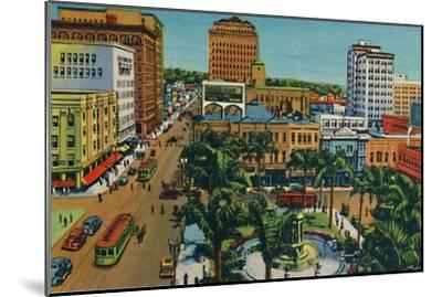 'The Plaza. San Diego, California', c1941-Unknown-Mounted Giclee Print