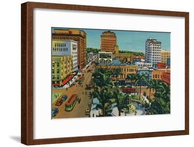 'The Plaza. San Diego, California', c1941-Unknown-Framed Giclee Print