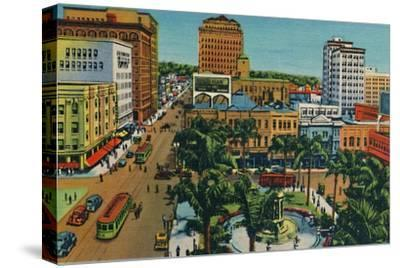 'The Plaza. San Diego, California', c1941-Unknown-Stretched Canvas Print