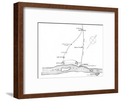 'Sketch-Map of the Movements from January 17-21, 1885', c1885-Unknown-Framed Giclee Print
