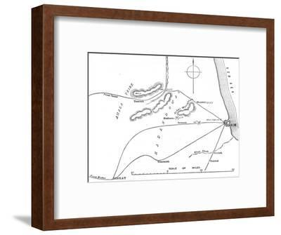 'Map of the Environs of Suakim', c1885-Unknown-Framed Giclee Print
