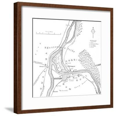 'Map of Khartoum and Vicinity', c1885-Unknown-Framed Giclee Print