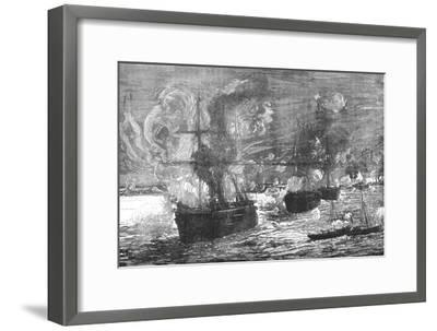 'The Bombardment of Alexandria', 1882, (c1882-85)-Unknown-Framed Giclee Print