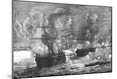 'The Bombardment of Alexandria', 1882, (c1882-85)-Unknown-Mounted Giclee Print