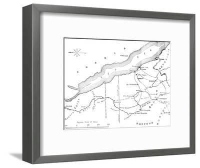 'Map of the Country Between Egypt and the Soudan', c1881-85-Unknown-Framed Giclee Print