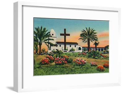 'Junipero Serra Museum, Old Town. San Diego, California', c1941-Unknown-Framed Giclee Print