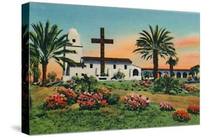 'Junipero Serra Museum, Old Town. San Diego, California', c1941-Unknown-Stretched Canvas Print