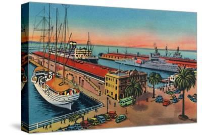 'Municipal Piers. San Diego, California', c1941-Unknown-Stretched Canvas Print