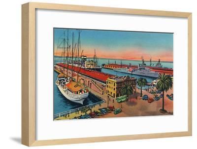 'Municipal Piers. San Diego, California', c1941-Unknown-Framed Giclee Print