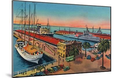 'Municipal Piers. San Diego, California', c1941-Unknown-Mounted Giclee Print