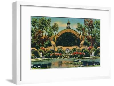 'Botanical Building and Lagoon. San Diego, California', c1941-Unknown-Framed Giclee Print