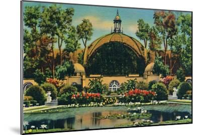 'Botanical Building and Lagoon. San Diego, California', c1941-Unknown-Mounted Giclee Print