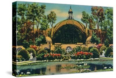 'Botanical Building and Lagoon. San Diego, California', c1941-Unknown-Stretched Canvas Print