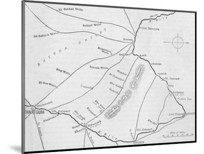 'Plan of the Theatre of War in the Second Soudan Campaign', c1881-85-Unknown-Mounted Giclee Print
