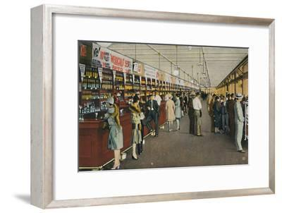 Mexicali Beer Hall, The Longest Bar in the World, c1939-Unknown-Framed Giclee Print