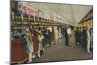 Mexicali Beer Hall, The Longest Bar in the World, c1939-Unknown-Mounted Giclee Print