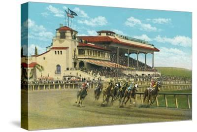 'New Club House and Grand Stand, Agua Caliente Jockey Club', c1939-Unknown-Stretched Canvas Print