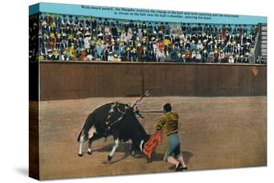 'The Challenge of the Matador, Plaza De Toros', c1939-Unknown-Stretched Canvas Print