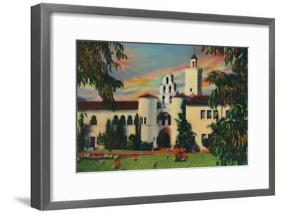 'Main Entrance. Administration Building, State College. San Diego, California', c1941-Unknown-Framed Giclee Print