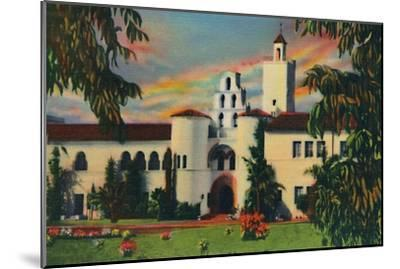 'Main Entrance. Administration Building, State College. San Diego, California', c1941-Unknown-Mounted Giclee Print