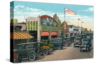 'Looking North on Main Street', c1939-Unknown-Stretched Canvas Print