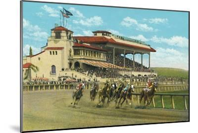 'New Club House and Grand Stand, Agua Caliente Jockey Club', c1939-Unknown-Mounted Giclee Print