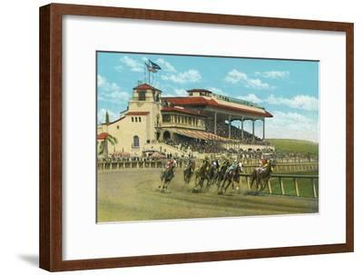 'New Club House and Grand Stand, Agua Caliente Jockey Club', c1939-Unknown-Framed Giclee Print