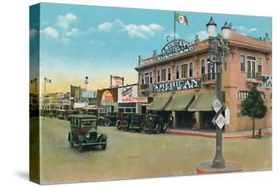 'Looking East on Second Street', c1939-Unknown-Stretched Canvas Print