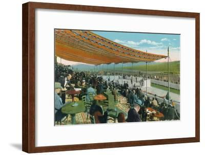 'Watching the Races in front of Club House, Agua Caliente Jockey Club', c1939-Unknown-Framed Giclee Print