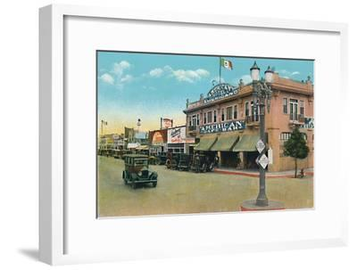 'Looking East on Second Street', c1939-Unknown-Framed Giclee Print