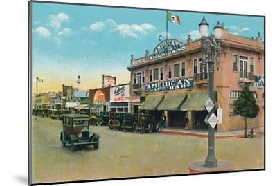 'Looking East on Second Street', c1939-Unknown-Mounted Giclee Print