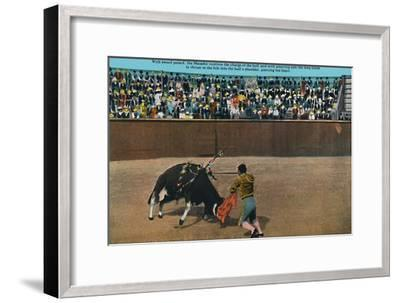 'The Challenge of the Matador, Plaza De Toros', c1939-Unknown-Framed Giclee Print