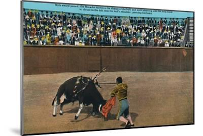'The Challenge of the Matador, Plaza De Toros', c1939-Unknown-Mounted Giclee Print