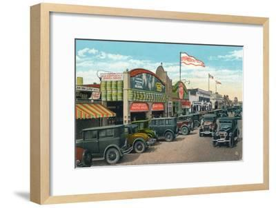 'Looking North on Main Street', c1939-Unknown-Framed Giclee Print