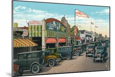 'Looking North on Main Street', c1939-Unknown-Mounted Giclee Print