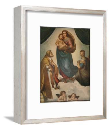 'The Sistine Madonna', 1512, (1911)-Raphael-Framed Giclee Print