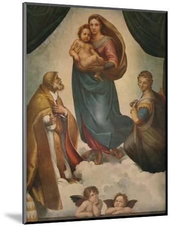 'The Sistine Madonna', 1512, (1911)-Raphael-Mounted Giclee Print