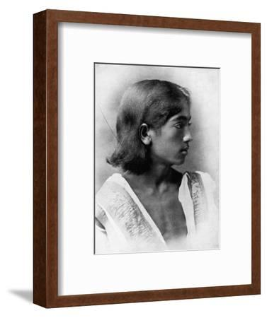 'This is a Photograph of J. Krishnamurti', c1911, (1911)-Unknown-Framed Photographic Print