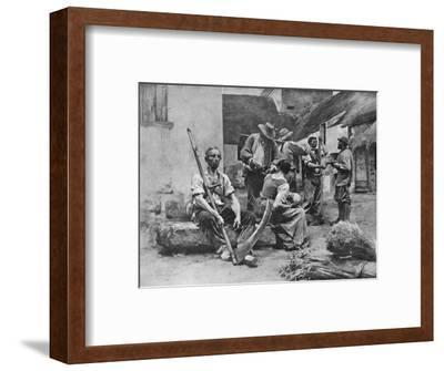 'Paying the Harvesters', 1882, (1911)-Leon-Augustin Lhermitte-Framed Giclee Print