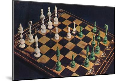 'Seventeenth-Century Ivory Chessmen and Board', 1948-Unknown-Mounted Giclee Print
