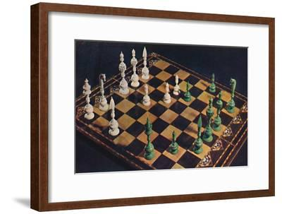 'Seventeenth-Century Ivory Chessmen and Board', 1948-Unknown-Framed Giclee Print