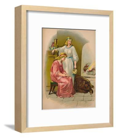'Snow-white and Rose-red', 1903-Unknown-Framed Giclee Print