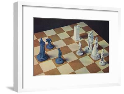 'Eighteenth-Century Chessmen in Blue and White Stoneware', 1948-Unknown-Framed Giclee Print